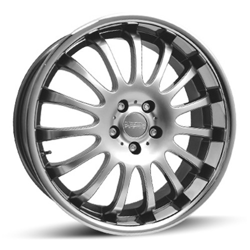 "17"" Team Dynamics Equinox Alloy Wheels Silver Black Gunmetal Centres with Stainless Lip"