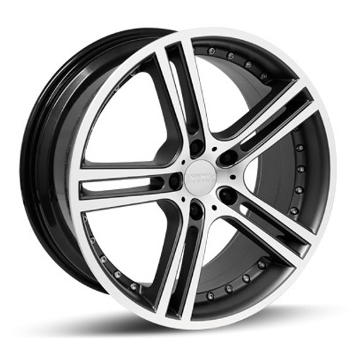 "18"" Team Dynamics Le Mans Alloy Wheels Silver or Matt Graphite with Polished face"