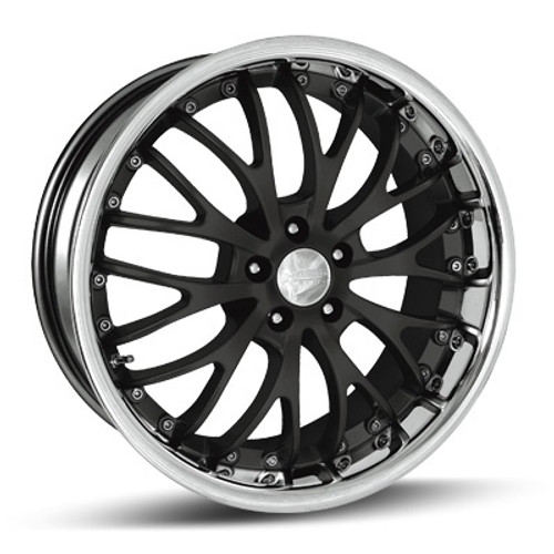 "18"" Team Dynamics Mesh III Alloy Wheels Silver Black or Gunmetal Centres with Stainless Lip"