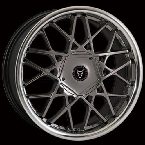 "18"" Alloy Wheels Wolfrace Eurosport Blitz - Gun Metal/ Stainless Steel Lip"