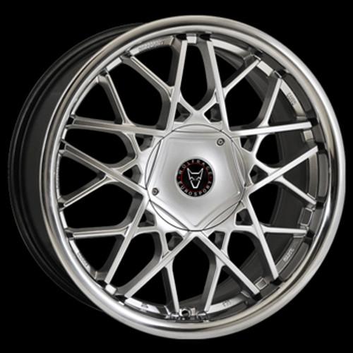 "18"" Alloy Wheels Wolfrace Eurosport Blitz - Hyper Silver/ Stainless Steel Lip"