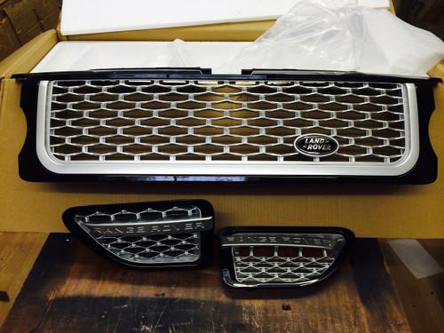 Range Rover Sport Autobiography Grille & Side Vents 2005-2009 BLK