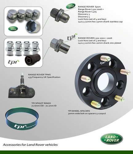 Range Rover Lock Nut Set Genuine