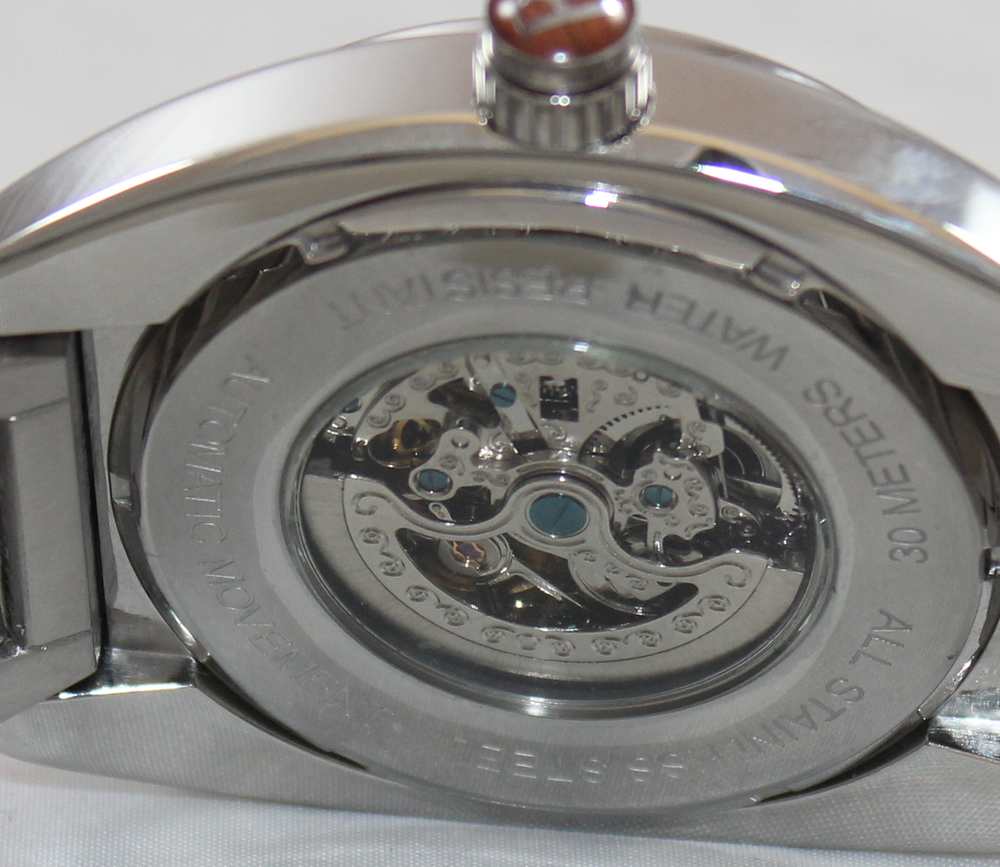 Automatic Movement means this watch is self winding....no batteries, ever!