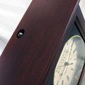 Sound Hole on top of clock enables chime to be heard loudly and also makes hanging this clock on that screw in the wall a simple task.