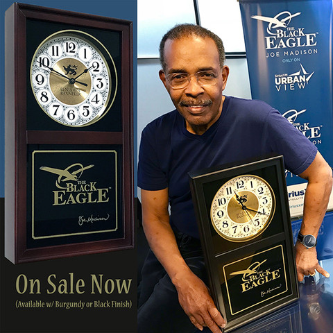 Joe Madison Signature Black Eagle Clock has officially landed