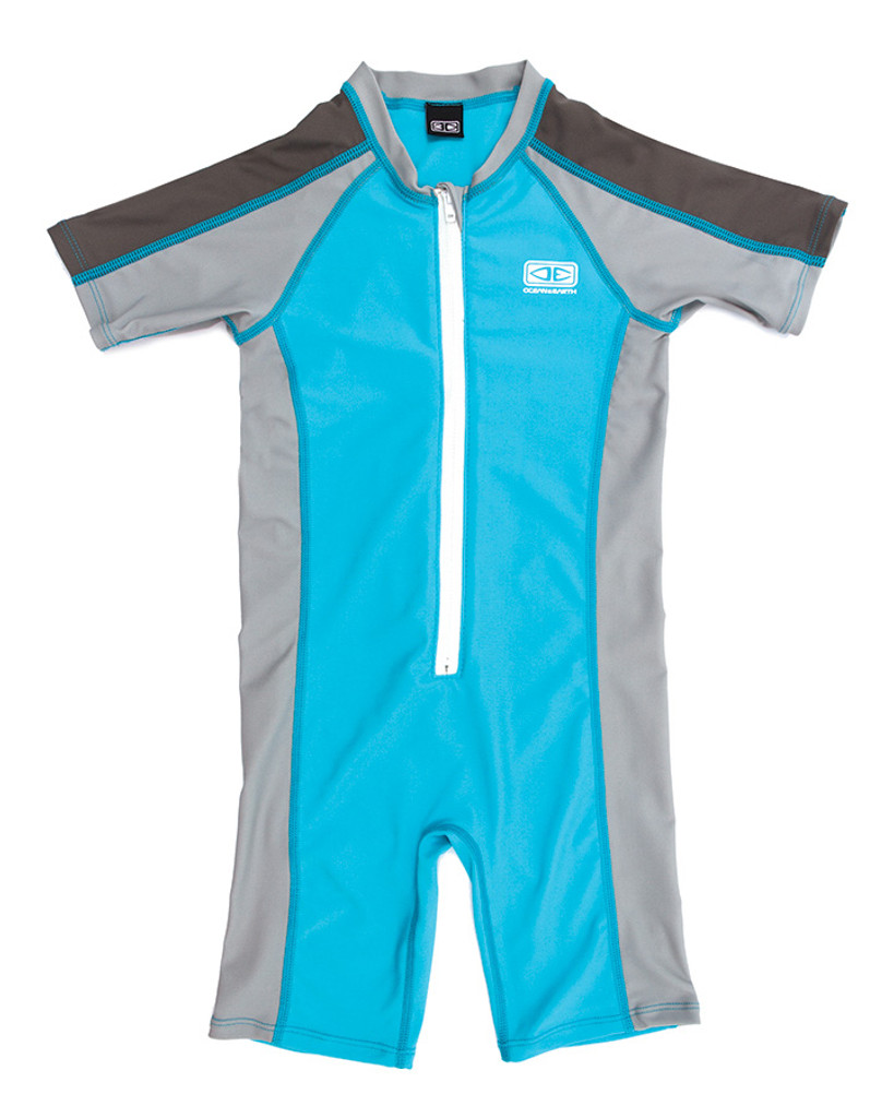 Toddler Zip Front Sun Suit - Blue