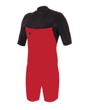 Front inside view of wetsuit showing internal mesh plush lining