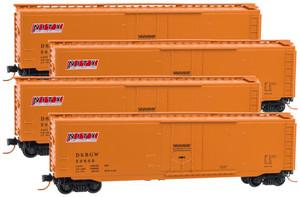MICRO-TRAINS 993 00 117  N (4-PK)  DENVER & RIO GRANDE 50' PLUG DOOR BOX