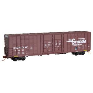 MICRO TRAINS 103 00 010  N DENVER & RIO GRANDE WESTERN 60 BOX CAR EXCESS HEIGHT DOUBLE PLUG DOORS WAFFLE SIDES RD# D&RGW 63893