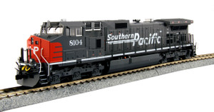KATO 37-6630 HO GE C44-9W, SOUTHERN PACIFC #8104 (GRAY, RED)