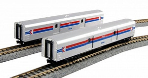 KAT 106-3512 BAGGAGE CAR AMTK PHASE I 2 CAR SET