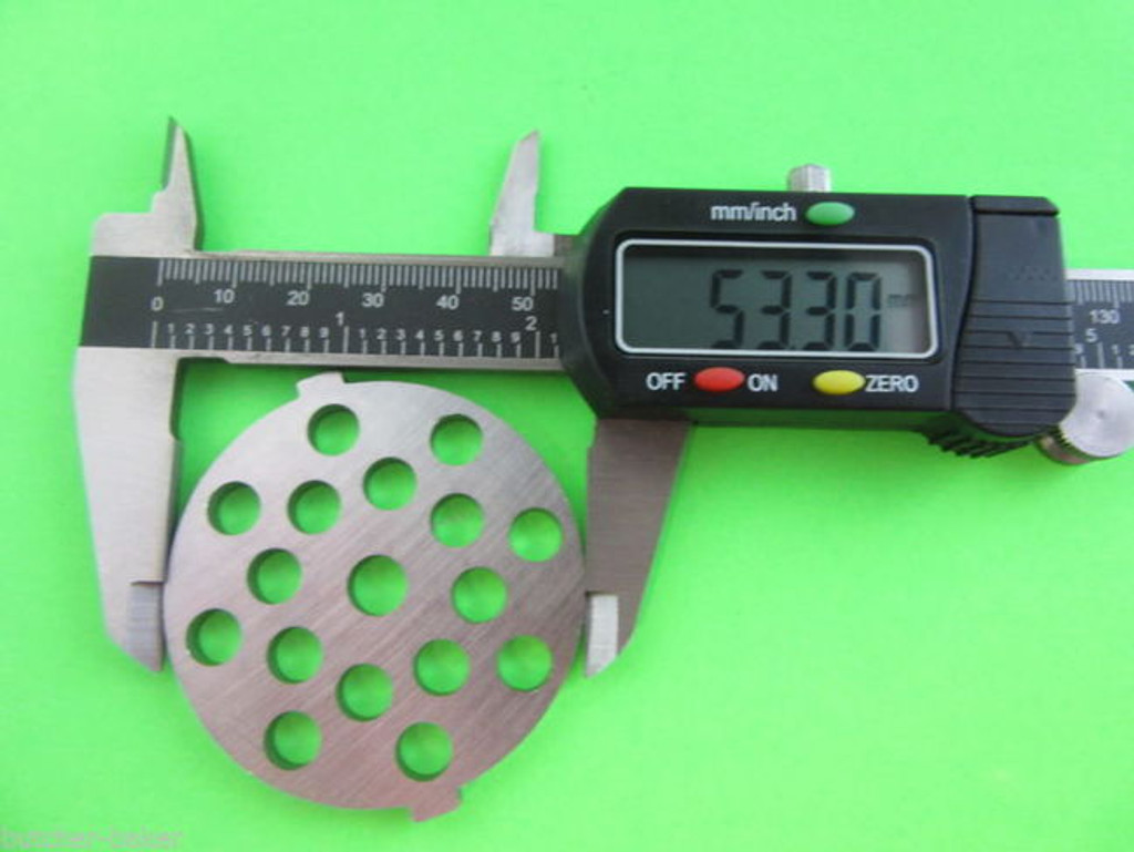 """Meat Grinder plate disc for electric Waring Pro & Oster w/ 5/16"""" Large Burger"""