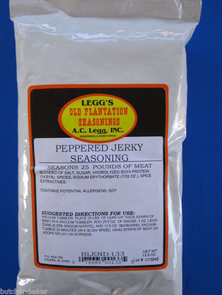 PEPPERED Jerky Seasoning Spices for 100 LBS of meat Venison Elk Beef Deer Moose