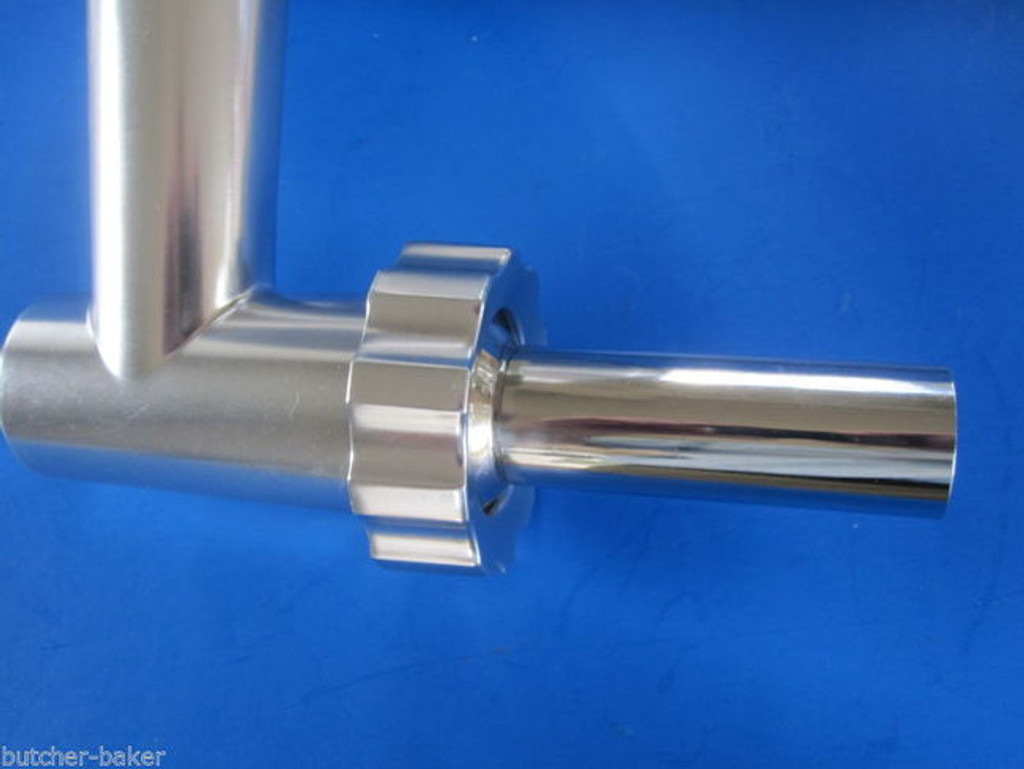 LARGE Stuffing Tube for Chefs Choice meat grinder attachment on Kitchenaid mixer