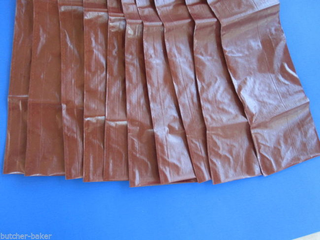 50 x 2 lb FRESH Fibrous LONG Casings for Homemade SUMMER SAUSAGE Stuffing Skin