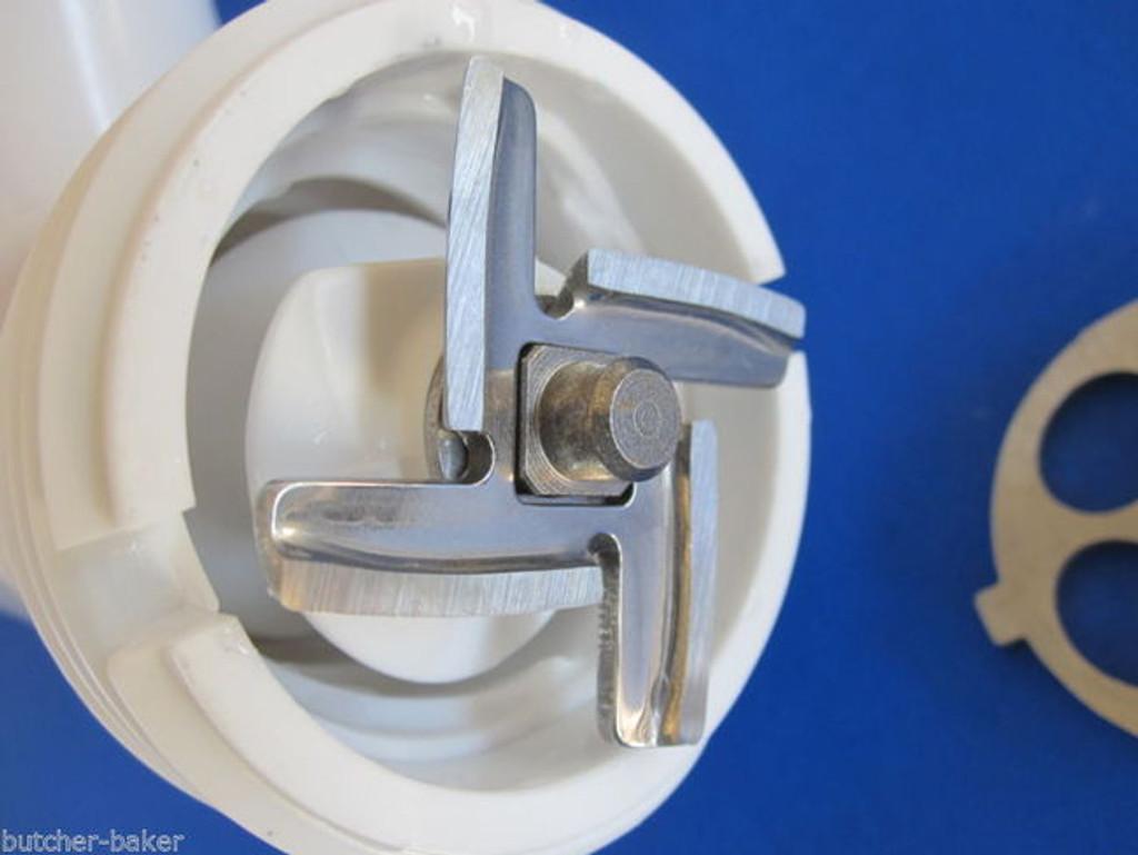 5 pc SET Meat Grinder plates & knife for new FGA KitchenAid Mixer Food Chopper