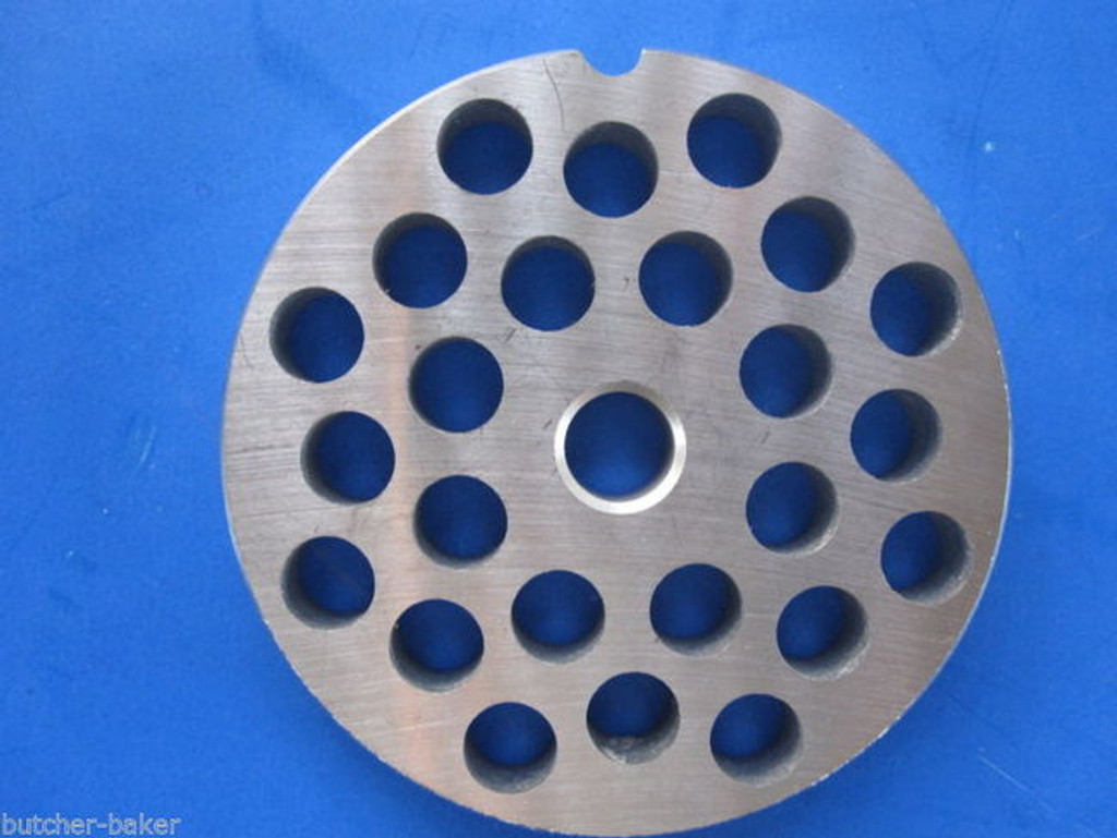 "#22 x 3/8"" holes STAINLESS Meat Food Grinder Plate Disc Hobart TorRey LEM etc replaces Hobart 00-016433-00002"
