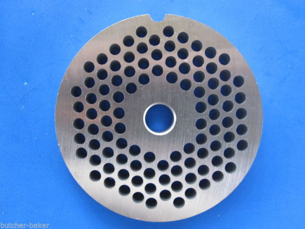 "#22 x 3/16"" holes STAINLESS Meat Food Grinder Plate Disc Hobart TorRey LEM etc replaces Hobart 00-016431-00002"
