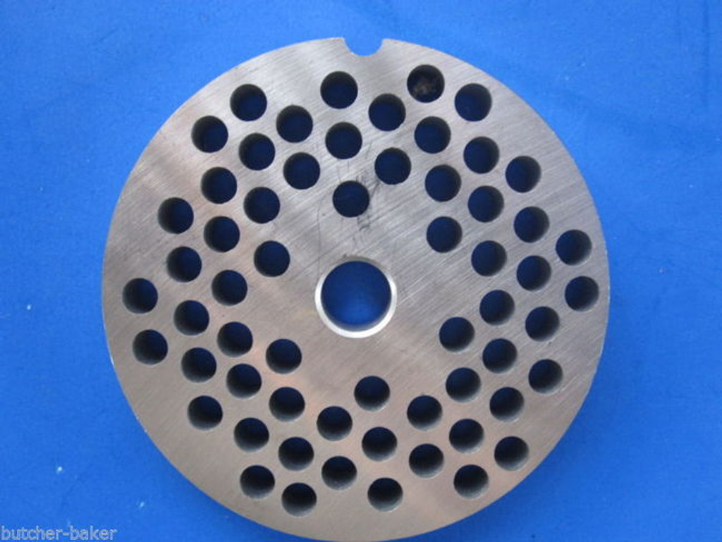"#22 x 1/4"" holes STAINLESS Meat Food Grinder Plate Disc Hobart TorRey LEM etc replaces Hobart 00-016432-00002"