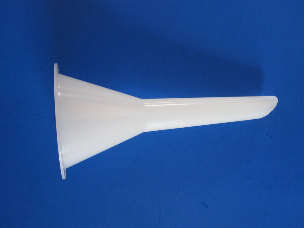 Size #12 sausage stuffing tube for electric or manual meat grinder.