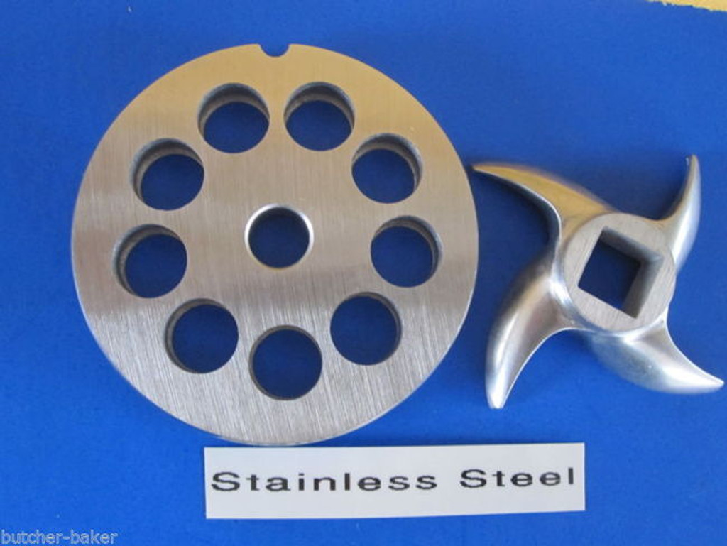 """#12 x 1/2"""" PLATE & SWIRL KNIFE S/S Meat Grinder Grinding SET"""