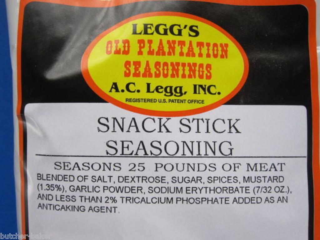 CASE PRICE Leggs Snack Stick Seasoning for Beef Elk Deer Sausage Slim Jims or Pepperoni