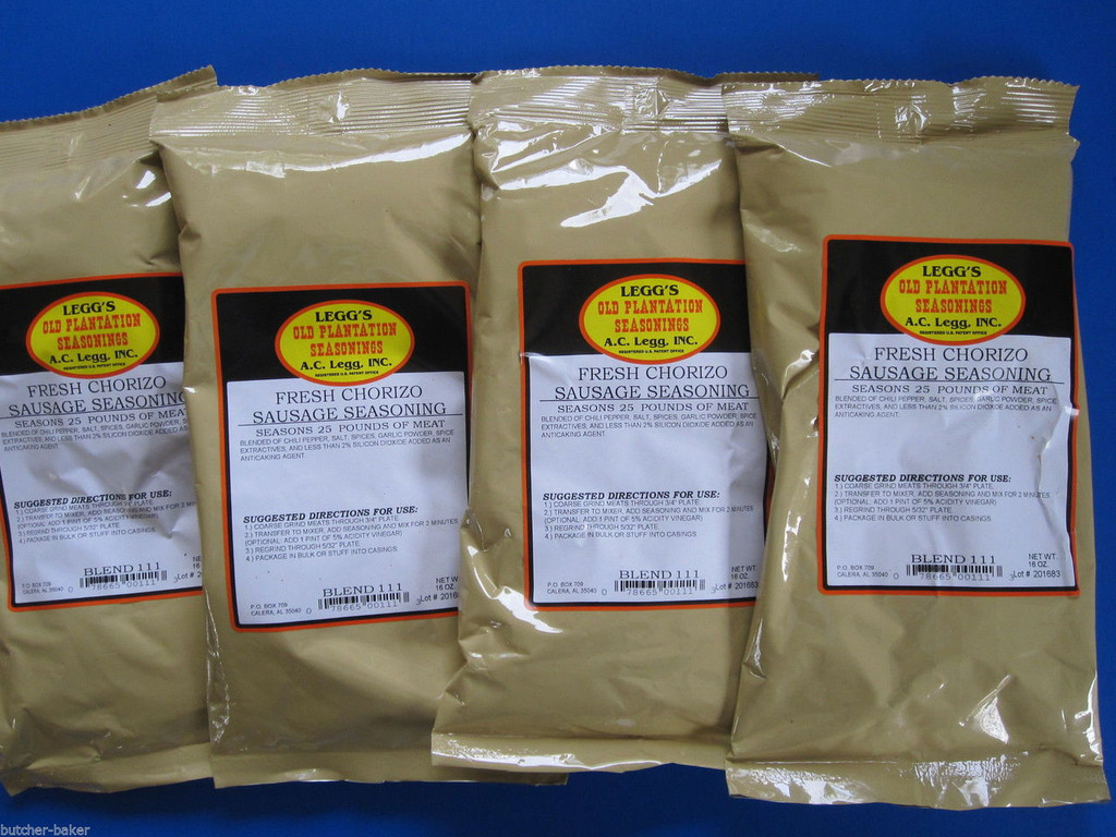 Leggs Chorizo Sausage Seasoning for 100 lbs of beef pork elk venison