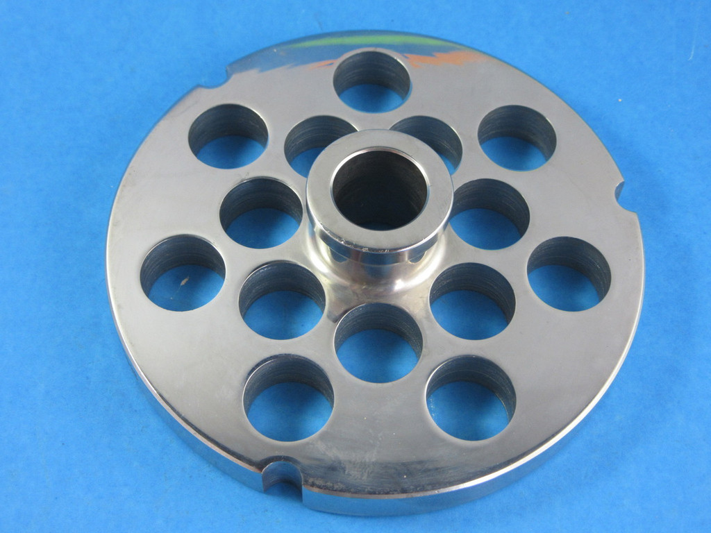 "#52 x 3/4"" holes.  Stainless Steel meat grinder plate"