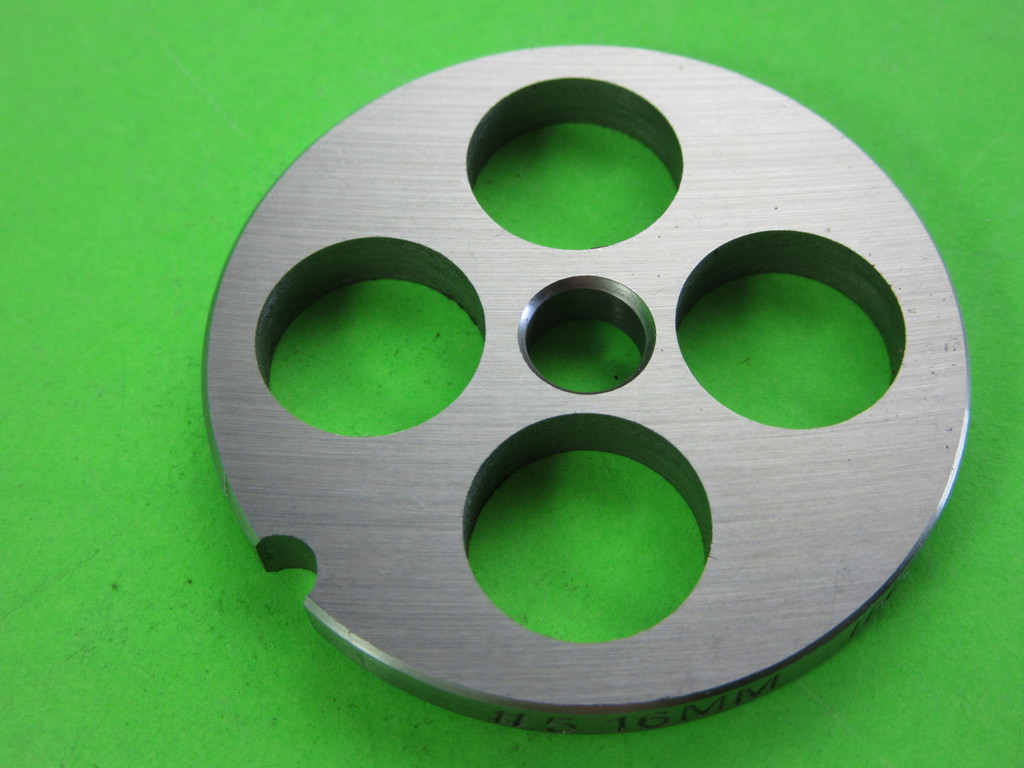 """#5 x 5/8"""" hole plate.  Stainless Steel"""