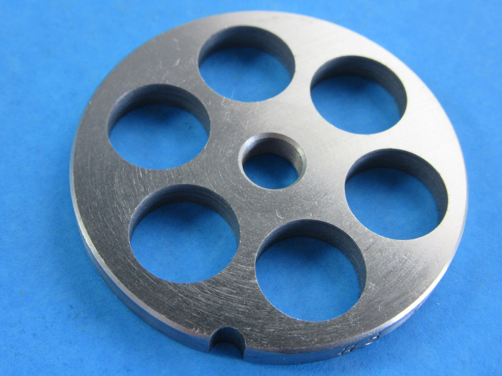 "#8 plate with 5/8"" (16mm) holes for sausage or chili grind"
