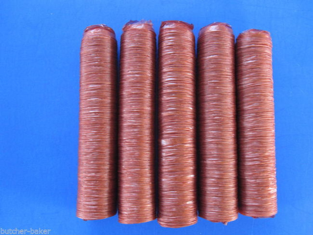 21 mm SLIM Collagen Snack Stick CASINGS  for 25 lbs of Edible Slim Jims Pepperoni sausage