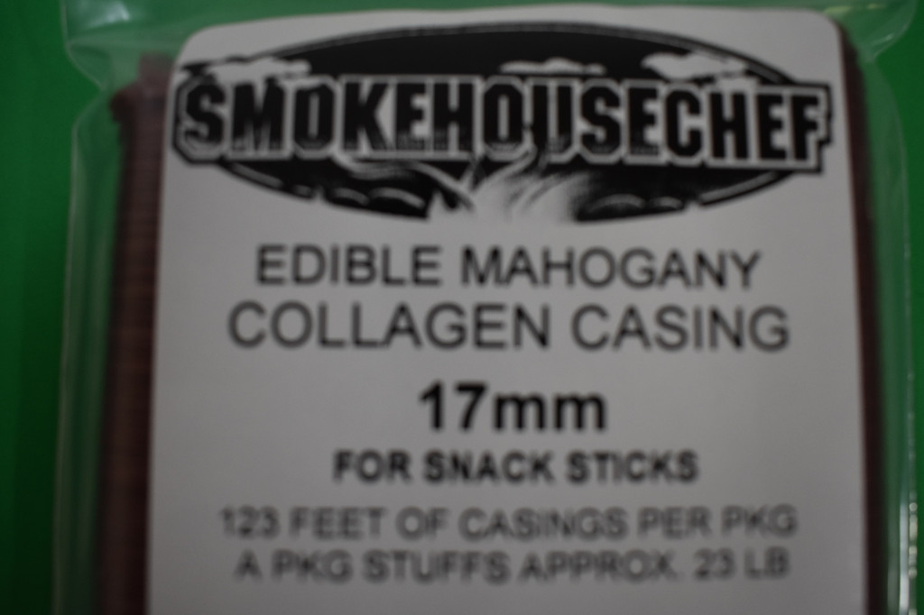 17 mm SLIM Collagen Snack Stick CASINGS  for 90 lbs of Edible Slim Jims Pepperoni sausage