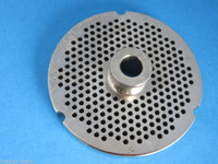 "#32 x 1/8"" w/ HUB STAINLESS Meat Grinder Plate for Hobart Weston LEM Cabelas etc"