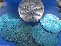 Hobart Mixer Pelican Disc Holder Insert #12 AND SIX Shredder discs cheese etc