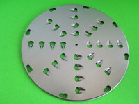 6 DISCS Food Grater cheese Shredder for Hobart Pelican Head