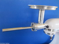 """3/4"""" Stuffing Tube Chefs Choice meat grinder attachment on Kitchenaid mixer"""