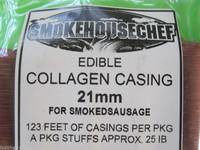 25 Lbs Snack Stick CASINGS  21mm Edible Collagen Slim Jims Pepperoni sausage