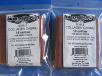 19mm Snack Stick CASINGS for 40 lbs. EDIBLE Collagen Slim Jims Pepperoni sausage