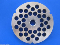 """#32 x 3/8"""" (10mm) STAINLESS Meat Grinder Plate Disc for Hobart 4332 4532 LEM etc Replacement Part 00-108583-00002"""