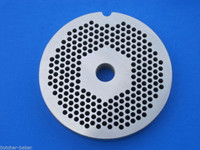 "#22 x 1/8"" holes STAINLESS Meat Food Grinder Plate Disc Hobart TorRey LEM etc replaces Hobart 00-016430-00002"