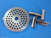 "5/16"" Meat Grinder plate disc & knife for Rival Sunmile & Deni electric"