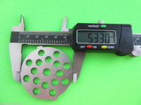 "1/2"" Meat Grinder plate disc & knife for Back to Basics Waring Pro & Oster"