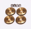 FP2128   FP 1/10 12mm 2 HOLE BRASS PISTONS 2 x 1.5mm  (SET OF 4)