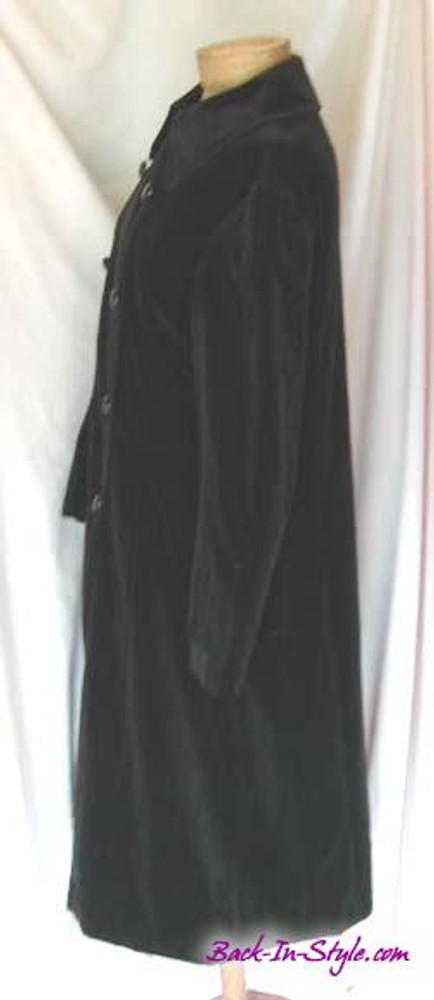 Black Velvet Double Breasted Coat