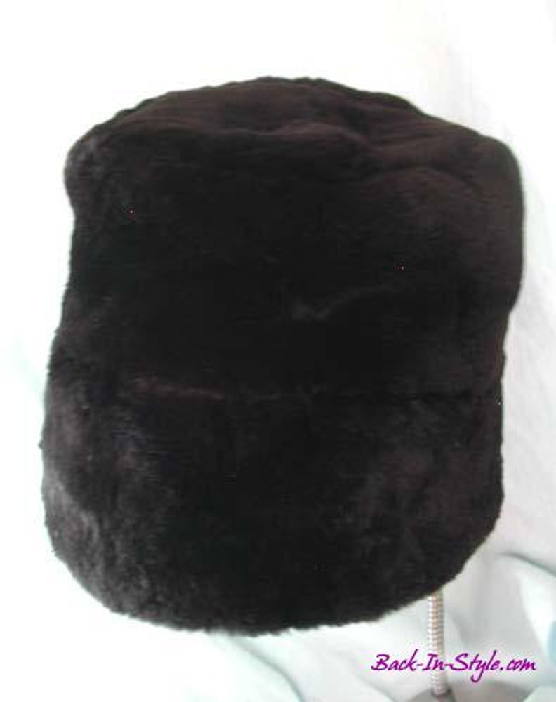 Black Fur Bucket Hat