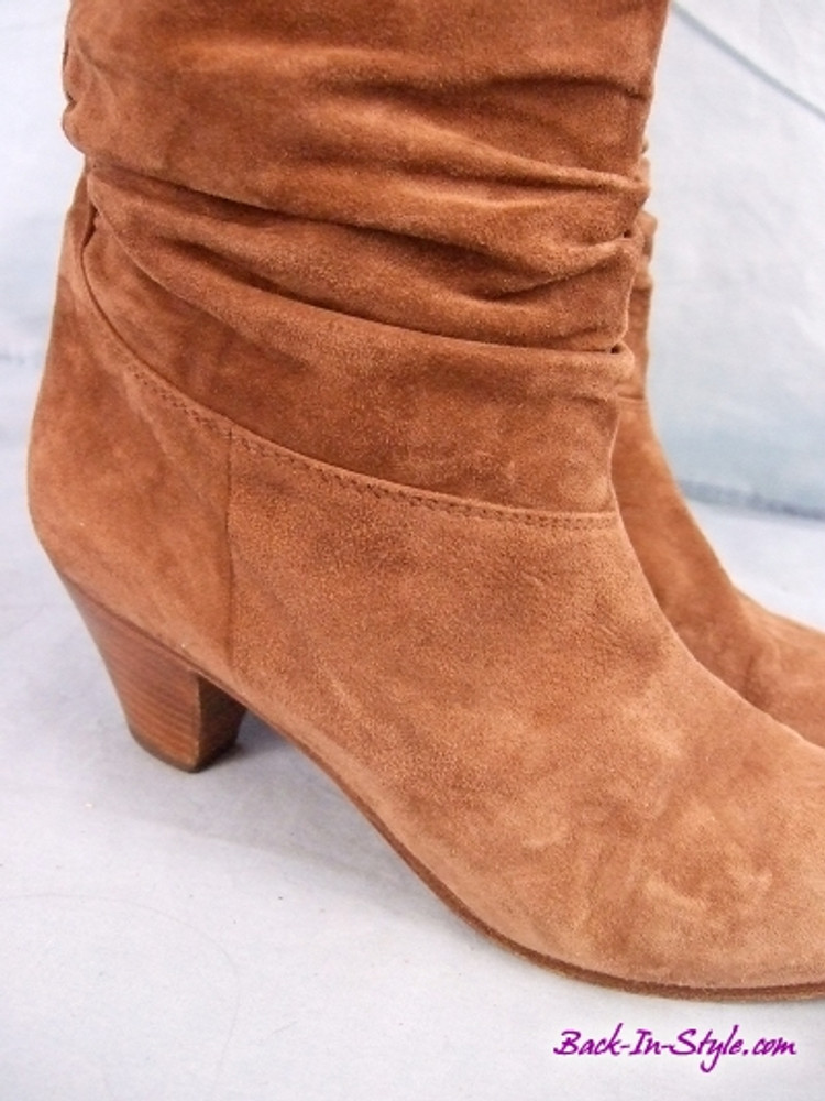 Vintage 1970s Francesca Martelli Brown Suede Slouchy Boots