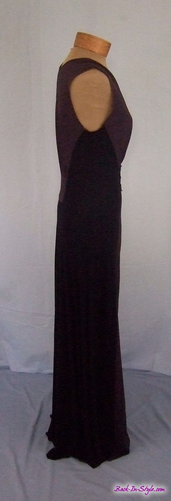 Rozae Nichols Black & Gray Jersey Dress with Sequins