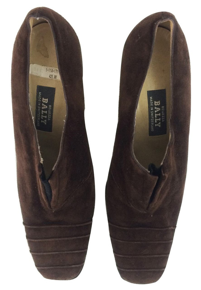 Bally Brown Suede Booties