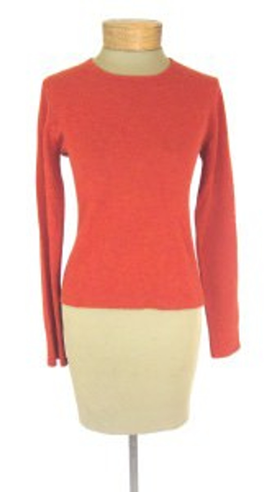 TSE Rust Orange/Red Cashmere Scoop Neck Sweater